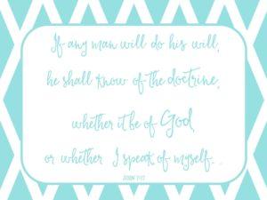 John 7:17 free printable