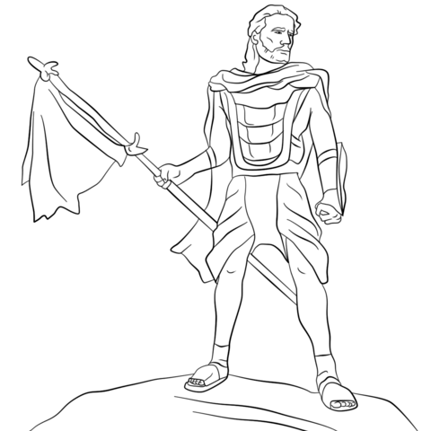 captain-moroni-coloring-page