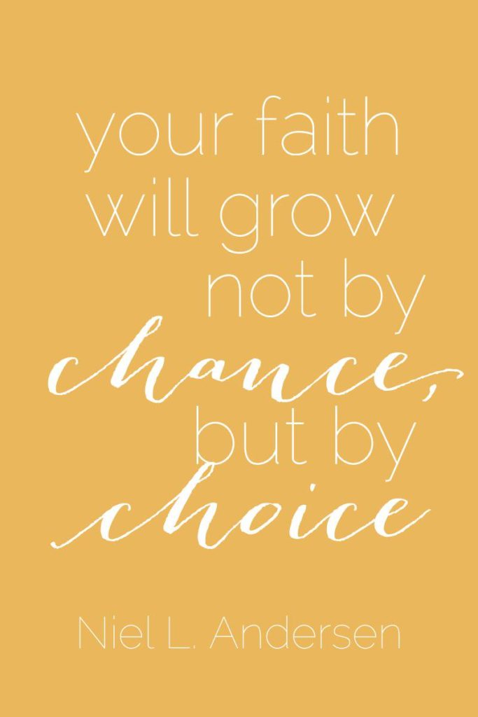Your faith will grow not by chance but by choice - image