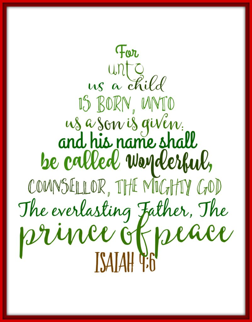 Isaiah 9:6 printable