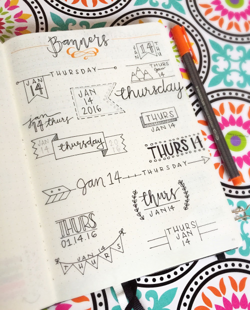 banner ideas for hand lettering