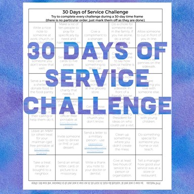 30 Days of Service Challenge