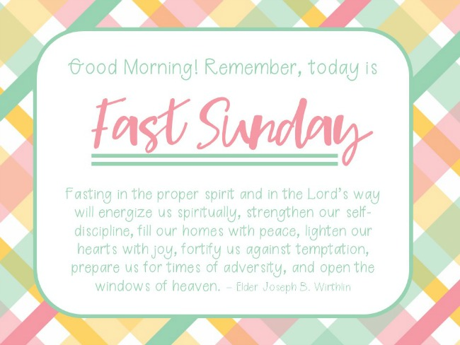 Fast Sunday Reminder 3 Lds Teach