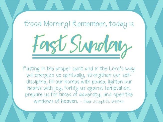 Fast Sunday Reminder 2 Lds Teach