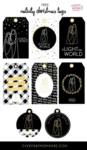 LIGHTtheWorldChristmasTags Everyday Mom Ideas