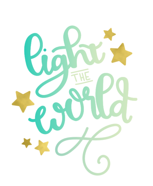 Printable Crush Light the World Hand lettering guide